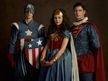 CAPITAN AMERICA & WONDERWOMAN & SUPER MAN